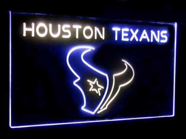 Houston Texans Football Bar Decoration Gift Dual Color Led Neon Sign st6-b2043