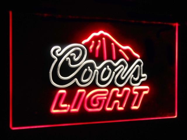 Coors Light Mountain Beer Bar Decoration Gift Dual Color Led Neon Sign st6-a2012