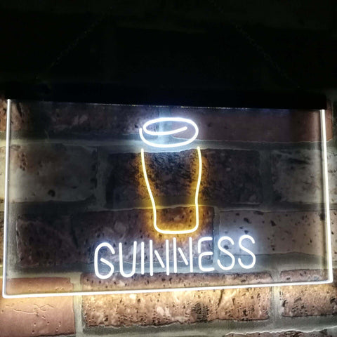 Guinness Glass Beer on tap Bar Decor Dual Color Led Neon Sign st6-a2045