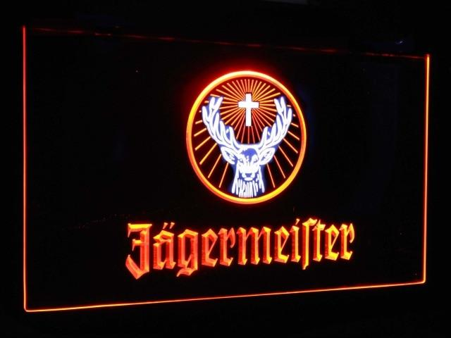 Jagermeister Deer Head Dual Color Led Neon Sign st6-a0288