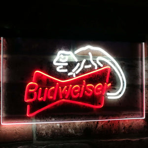 Budweiser Lizard Beer Bar Decoration Gift Dual Color Led Neon Sign st6-a2084