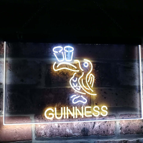 Lovely Day Guinness Beer Toucan Bar Decor Dual Color Led Neon Sign st6-a2121