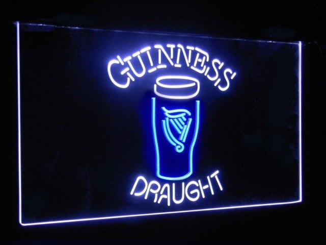 Guinness Draught Ale Beer Bar Decoration Gift Dual Color Led Neon Sign st6-a2044