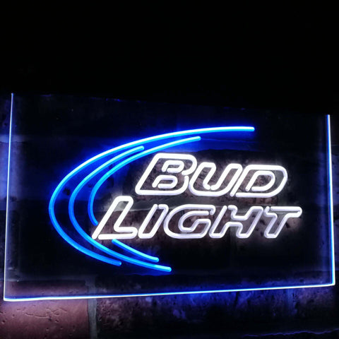 Bud Light Beer Ice Bar Decoration Gift Dual Color Led Neon Sign st6-a2003