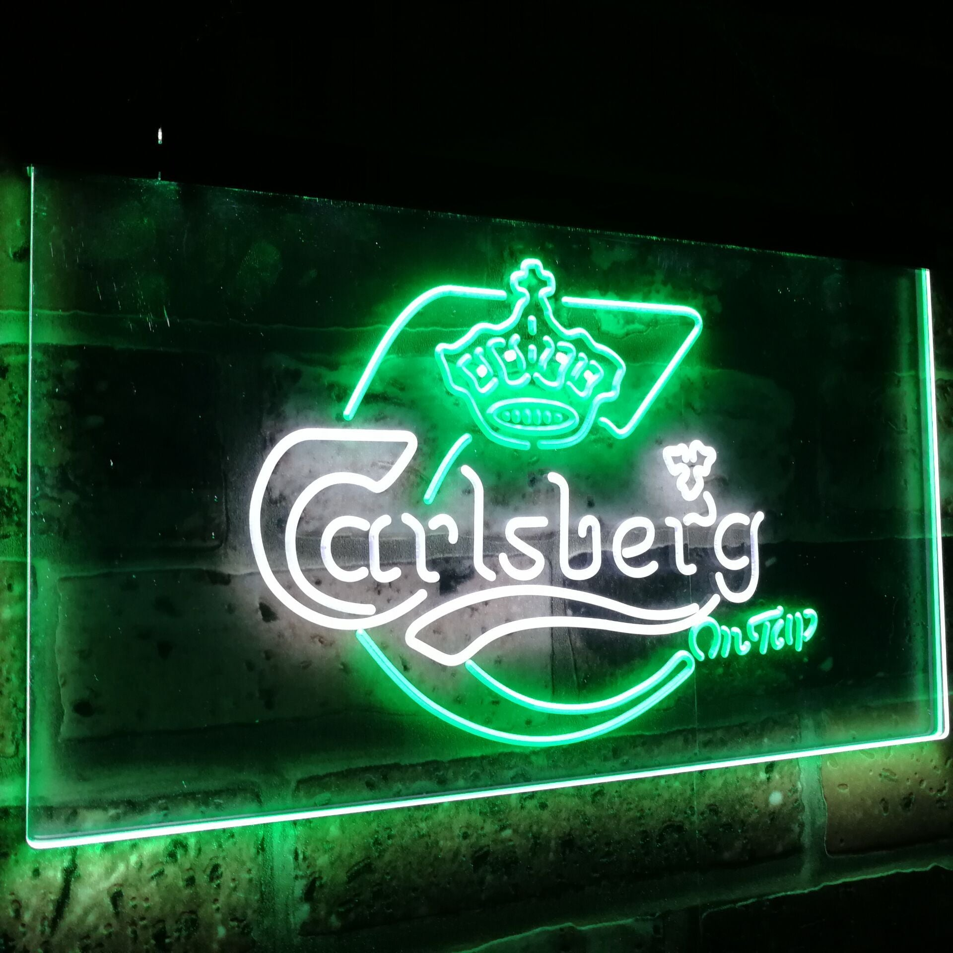 Carlsberg on tap Fresh Beer Bar Decor Dual Color Led Neon Sign st6-a2010