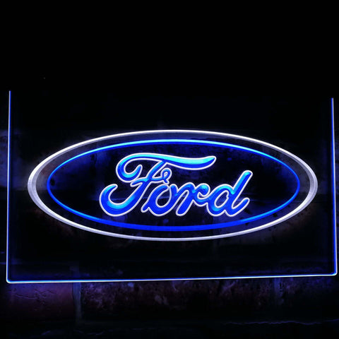 Ford car Transport Bar Decoration Gift Dual Color Led Neon Sign st6-d0007