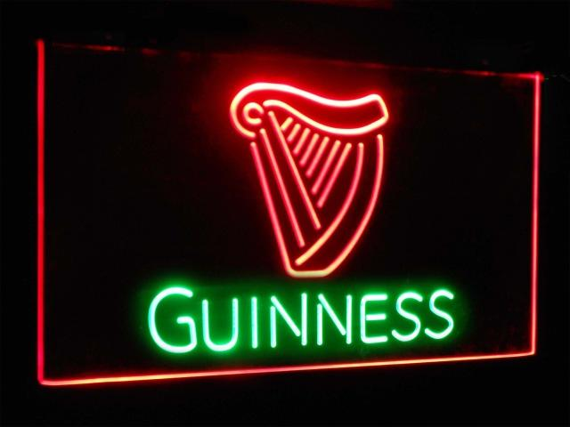 Guinness Ale Beer Bar Decoration Gift Dual Color Led Neon Sign st6-a2002