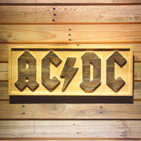 ACDC AC/CD Band Beer 3D Wooden Bar Sign