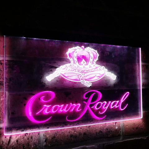 Crown Royal Beer Bar Decoration Gift Dual Color Led Neon Sign st6-a0104