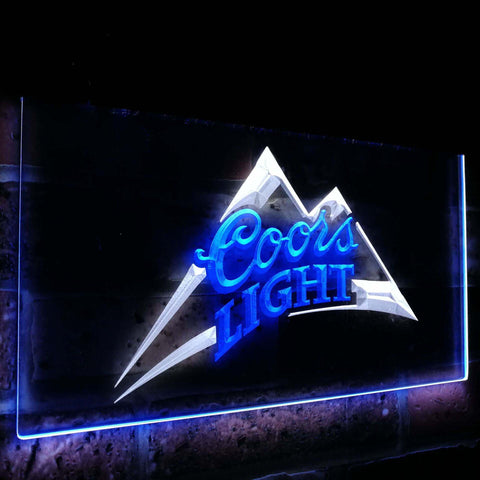 Coors Light Beer Bar Decoration Gift Dual Color Led Neon Sign st6-0004