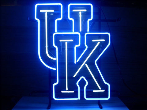 NEON SIGN For  NEW UNIVERSITY OF KENTUCKY WILDCATS   Signboard REAL GLASS BEER BAR PUB  display  christmas Light Signs 17*14""
