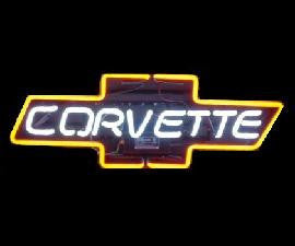 CORVETTE Glass Neon Light Sign
