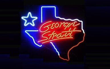 Custom George Strait Texas Glass Neon Light Sign Beer Bar