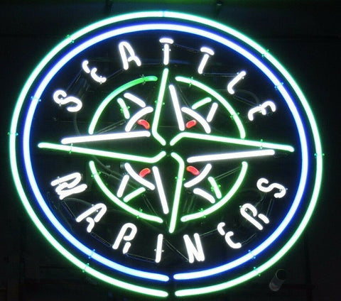 Custom  Seattle Mariners Glass Neon Light Sign Beer Bar