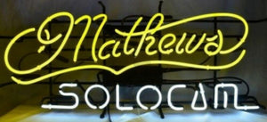 Custom Mathews SoloCam Glass Neon Light Sign Beer Bar