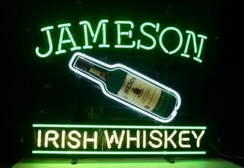 Jameson Irish Whiskey  Glass Neon Light Sign