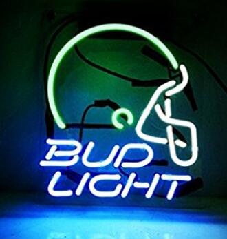 Custom Made Bud Helmet Light Glass Neon Light Sign Beer Bar