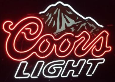 Coors Light Beer Glass Neon Light Sign