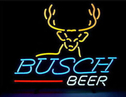 Custom Busch B   Glass Neon Light Sign Beer Bar
