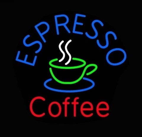 Custom Coffee Cafe Espresso Glass Neon Light Sign Beer Bar