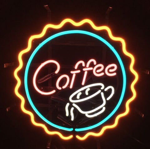 Custom Coffee Cafe Drink Glass Neon Light Sign Beer Bar