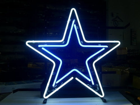 Custom Business NEON SIGN board For DALLAS COWBOYS FOOTBALL REAL LED Bulbs GLASS Tube BEER BAR PUB Club Shop Light Signs 17*14""