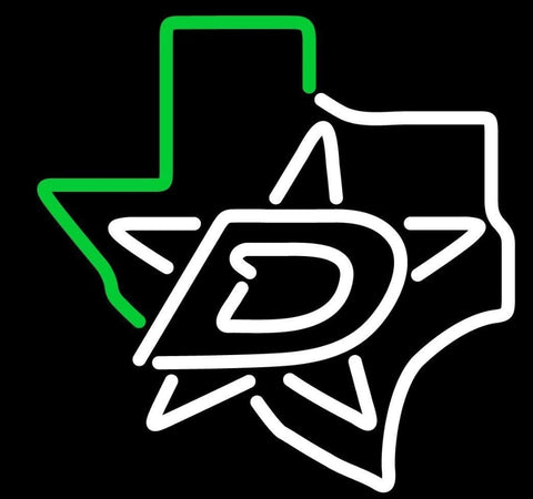 Custom Dallas Stars Texas Glass Neon Light Sign Beer Bar