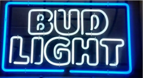 Custom Bud Light Glass Neon Light Sign Beer Bar