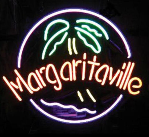 Custom Margaritaville Glass Neon Light Sign Beer Bar