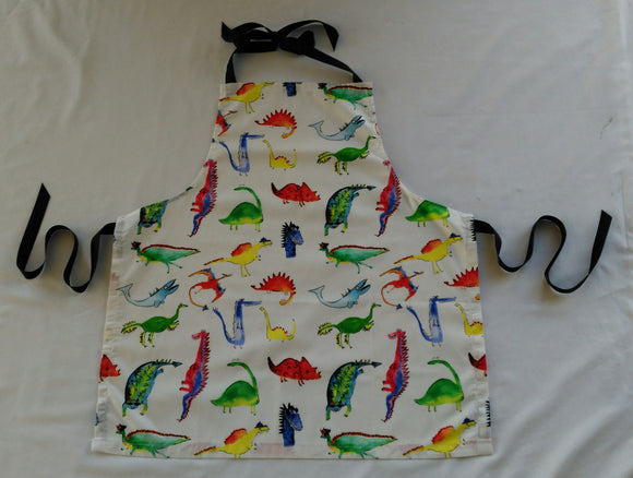 Kids Apron - Colourful Dinosaurs