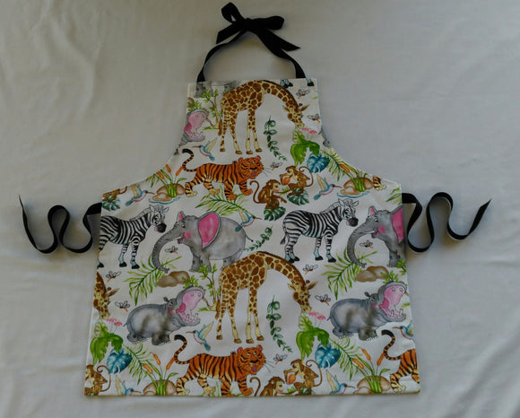 Kids Apron - Zoo Animals