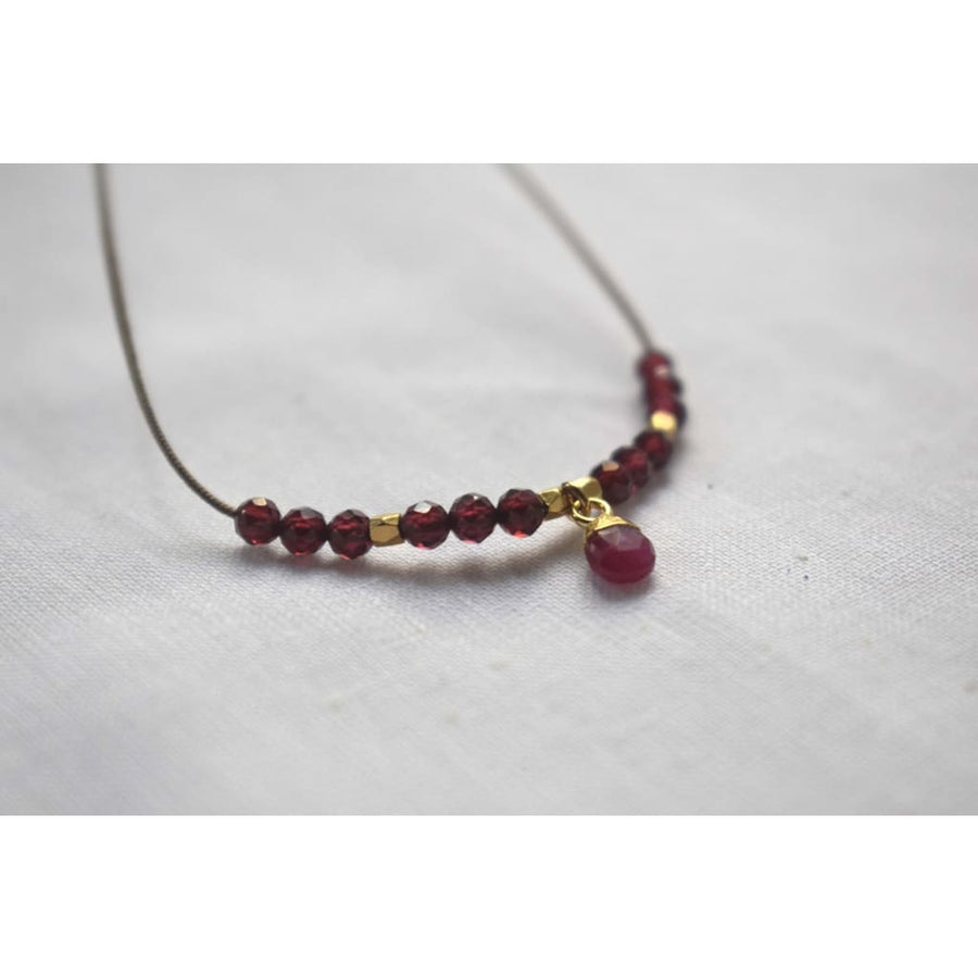 Collier Venise - ruby