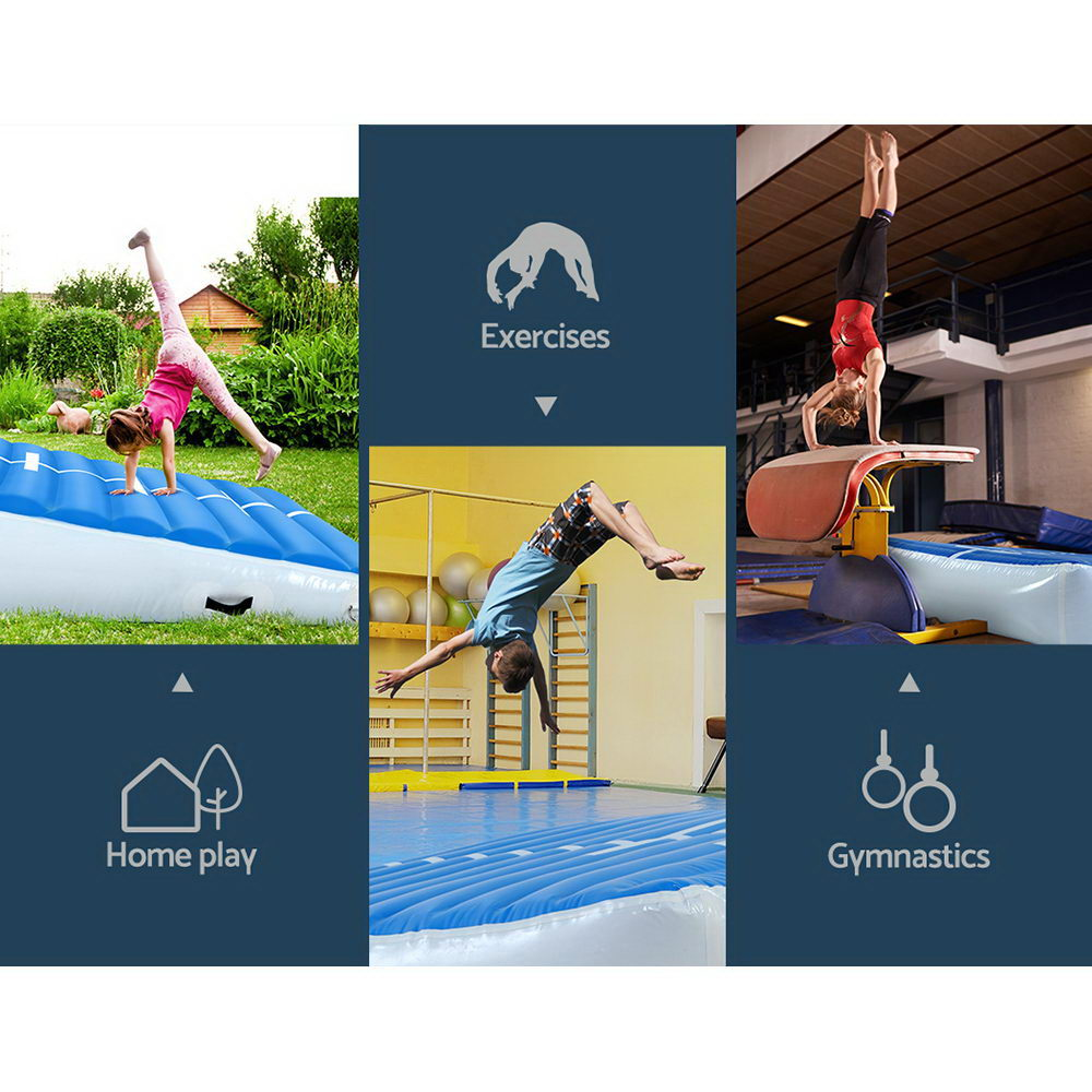 Everfit 2X2X0.4M Airtrack Inflatable Air Track Ramp Incline Mat Floor Gymnastics