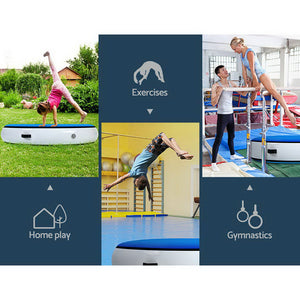 Everfit 100cm Inflatable Air Spot Track Tumbling Mat Airtrack Floor Gymnastics