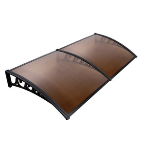 Instahut DIY Window Door Awning Shade 1 x 2m - Brown