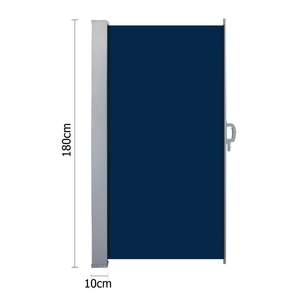 Instahut Retractable Side Awning Shade 1.8 x 3m - Blue