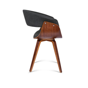 Artiss Timber Wood and Fabric Dining Chair - Charcoal
