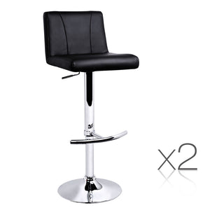 2x Artiss Bar stools Swivel Bar Stool Chairs Gas Lift Barstools Kitchen Black