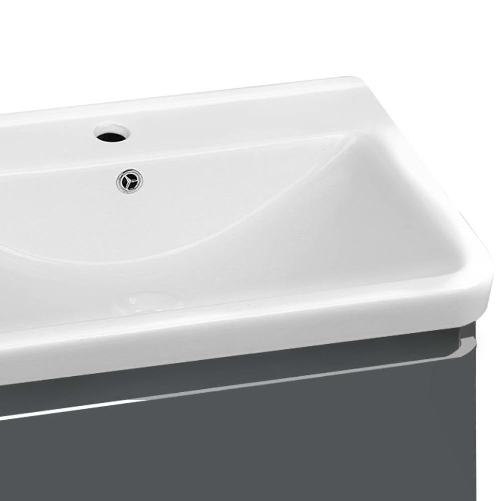 Cefito Ceramic Basin with Cabinet - Grey