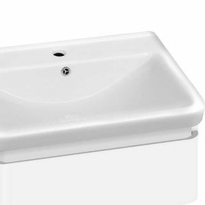 Cefito Ceramic Basin with Cabinet - White