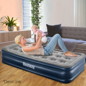 Bestway Single Size Inflatable Air Mattress - Grey & Blue