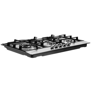 Devanti Gas Cooktop 90cm Kitchen Stove Cooker 5 Burner Stainless Steel NG/LPG Silver