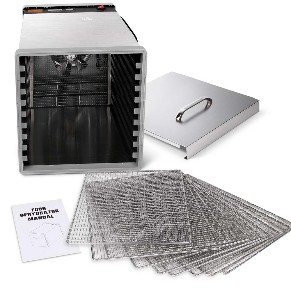 5 Star Chef Stainless Steel Food Dehydrator with 10 Trays