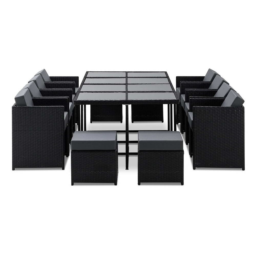 Gardeon 13 Piece Wicker Outdoor Dining Table Set