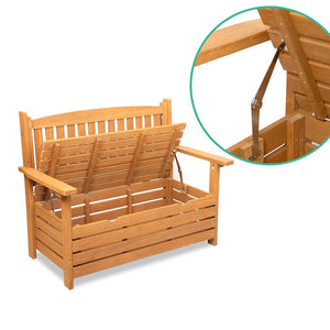 Gardeon 2 Seat Wooden Outdoor Storage Bench