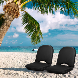 Artiss Foldable Beach Sun Picnic Seat - Black