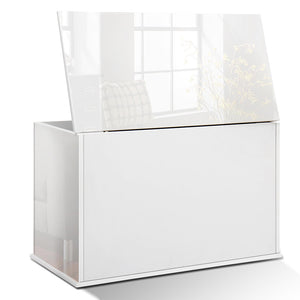 Artiss Baby Toy Box Nursery Wood Storage Chest Organizer - White