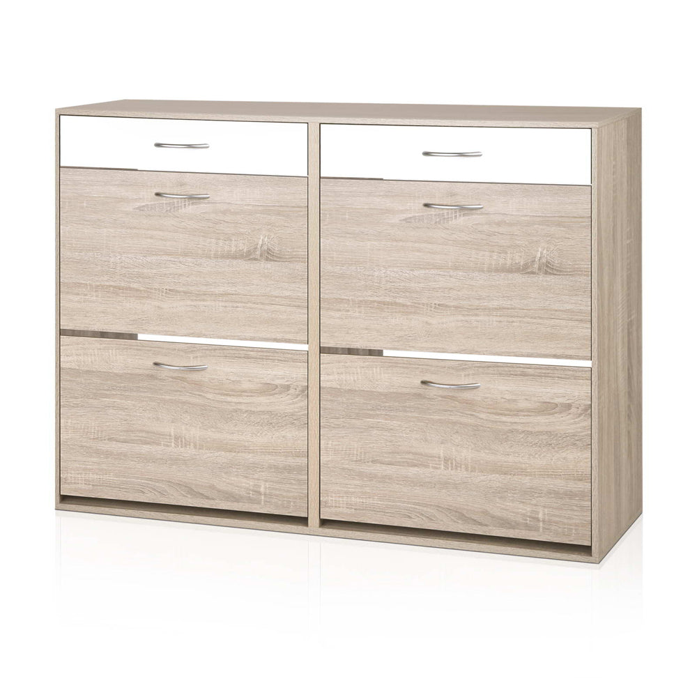 Artiss 2 Tier Shoe Cabinet - Wood