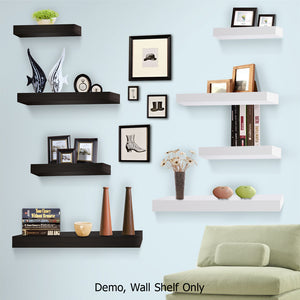 Artiss 3 Piece Floating Wall Shelves - White