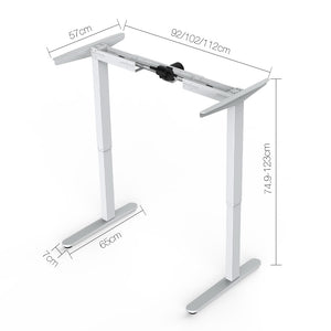 Motorised Height Adjustable Standing Desk - Black